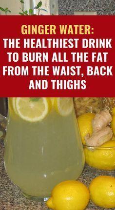 Ginger Water: The Healthiest Drink To Burn All The Fat From The Waist, Back And … Ingwerwasser: Das gesündeste Getränk zur Fettverbrennung an Taille, Rücken [. Natural Health Remedies, Herbal Remedies, Natural Remedies For Diarrhea, Foot Remedies, Natural Cures, Detox Drinks, Healthy Drinks, Healthy Snacks, Natural Remedies