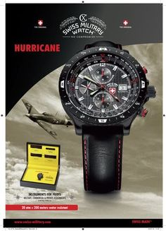 HURRICANE Limited edition professional Piliot Watch (automatic), by CX SWISS MILITARY WATCH: https://www.swiss-military.net/airforce