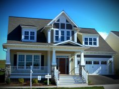 The Edinburgh design at Home Towne Square.  Customizable 1-story living with a welcoming front porch.  #ownalandmark