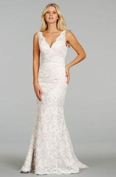bf24a1e094 Tia Adora by Alvina Valenta - V-Neck Sheath Gown in Lace Wedding Gown  Gallery