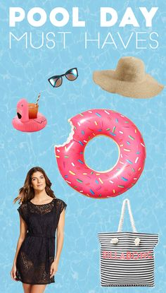 All the vacation must haves for a perfect pool day or a trip to the beach! Including where to find pool floats, cover ups and sunglasses!