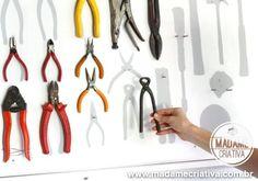 Como fazer painel para organizar ferramentas - Dicas e passo a passo com fotos - DIY Tools Board - Tutorial - Madame Criativa - www.madamecriativa.com.br