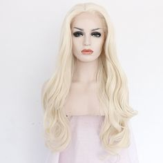 Ebingoo Handmade Wavy Blonde Synthetic Lace Front Wig Heat Resistant Hair (24inches) * This is an Amazon Affiliate link. Details can be found by clicking on the image.
