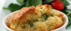 Aardappelsouffle's met gorgonzola en emmentaler