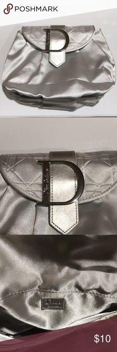 Dior Parfum Makeup Bag! Silky Dior Parfum Makeup bag 👛💄9x7 with silky silver liner Dior Bags Cosmetic Bags & Cases