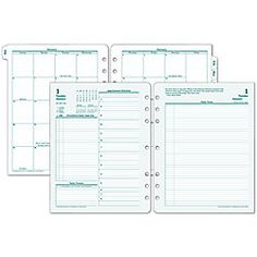 FranklinCovey Original Design Planner Refill 8 12 x 11 30percent Recycled 2 Pages Per Day January December 2016 by Office Depot & OfficeMax
