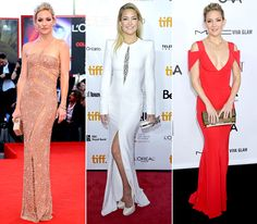 12 Best Dressed Stars of 2012: Kate Hudson in Prabal Gurung at the 3rd Annual amfAR Inspiration Gala in L.A.; in Atelier Versace at the Reluctant Fundamentalist premiere in Venice, Italy; in Alexander McQueen at the Reluctant Fundamentalist screening in Toronto, Canada.