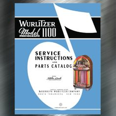 Manuals & Guides Wurlitzer Model 1500/1550 Jukebox Manual Collectibles