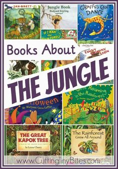 Books about the jungle.  Great list of books to use for a jungle theme or a rainforest unit.  Reviews of each!