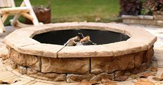 Want to spiff up your outdoor room before your July 4th party? Why not build a stone fire pit! As the sun sets and the temperature cools off, your guests can hang around the pit chatting all night.