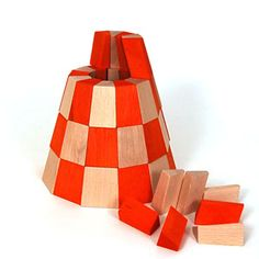 Natural Wood Building Blocks and Construction Toys
