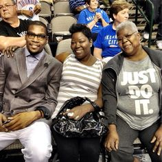 cb94f74b80c1 Kevin Durant and his mother and grandmother. Description from  playerperspective.com. I searched