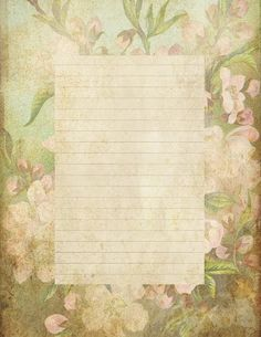 "Lilac & Lavender: ""Antiqued"" lined paper & Stationery"