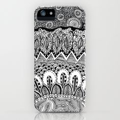 Black and White Doodle iPhone Case