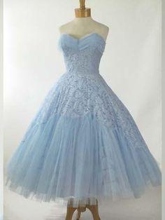 Retro Vintage Style & thee lengte bruidsmeisjekleding Prom Party Dress Vintage Prom, Vintage Gowns, Retro Vintage, Vintage Outfits, Vintage Fashion, Vintage Style, 1950s Style, 1950s Fashion, Dress Vintage