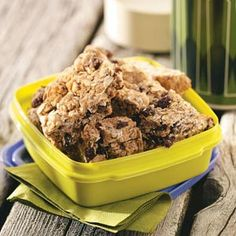 Cinnamon Granola Bars Recipe -I make these at least once a week for my husband, David. He takes one in his lunch every week and never gets tired of them. I love providing him with something so healthy to snack on that doesn't taste low-fat. —Jessica VanLaningham, Cockeysville, Maryland