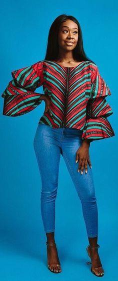 ef7b653ab951 More Beautiful Ankara Tops You Can Sew African Print Dresses