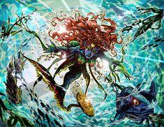 Dominican Republic myth and legend Siren or Mermaid by Artist-Illustrator Ray Wu