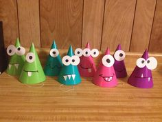 Monster party hats - DIY More - My WordPress Website Little Monster Birthday, Monster 1st Birthdays, Baby Boy First Birthday, Monster Birthday Parties, 3rd Birthday Parties, Birthday Fun, First Birthdays, 1st Birthday Boy Themes, Boys First Birthday Party Ideas