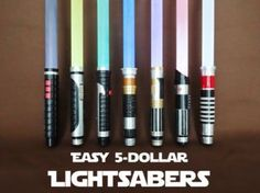 Make some awesome Lightsabers for about $5 each!I recently made a bunch of homemade Lightsabers for my kids and me to play with and use for Halloween costumes. As I...