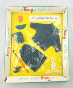 Rare 1960's TRESSY Palitoy Doll Hi-Fashion Shopping Outfit Complete Boxed KF R05