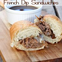 BRANDON approved. Slow Cooker French Dip Sandwiches