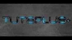 Sleek, blue metal TRON-like typography tutorial. Lovin' it