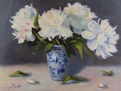 """""""Peonies"""" by artist Pat Fiorello, patfiorello.blogspot.com,www.patfiorello.com"""