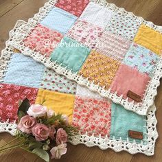 Super Sewing Fabric Scraps Crafts Ideas - Diy and crafts interests Crochet Quilt, Crochet Home, Diy And Crafts Sewing, Sewing Projects, Diy Crafts, Pinterest Patchwork, Recycler Diy, Quilt Patterns, Sewing Patterns