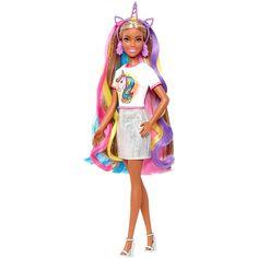 Barbie Shop, Barbie Toys, Old Barbie Dolls, Barbie Style, Barbie Hair, Barbie Dress, Mermaid Barbie, Barbie Unicorn, Fashion Dolls