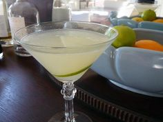 Dust off your vintage cocktail glasses peeps  – today's cocktail is a classic Daiquiri.