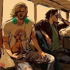 It's Thor and Loki. As hipsters. Oh, internet, I love you.