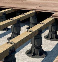 Wood plank roof deck on pedestals - Architrex