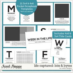 Life Captured: Bits & Bytes Templates by Nettio Designs