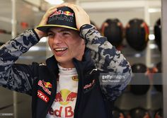 Max Verstappen of Netherlands and Red Bull Racing gets ready in the garage during practice for the United States Formula One Grand Prix at Circuit of The Americas on October 21, 2016 in Austin, United States.