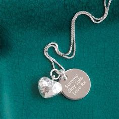 Puffed Heart Personalised Necklace