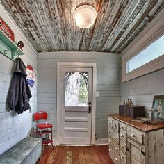 Barn Tin Bathroom Ceiling For The Home Rustic