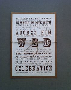 Rustic Western wedding invitations by paperlemon on Etsy, $2.00