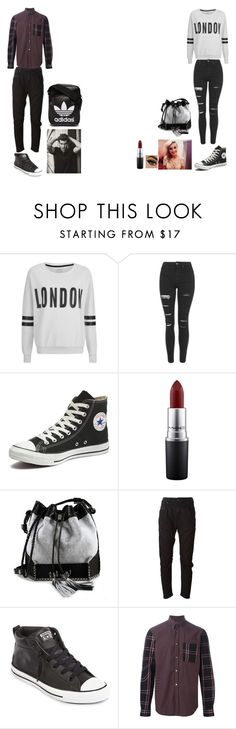 """optimus and perrie"" by ashley-orie on Polyvore featuring ONLY, Topshop, Converse, MAC Cosmetics, Carianne Moore, Diesel and adidas Originals"