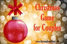 Fun Christmas Party Game for Couples (+ Free Printable)