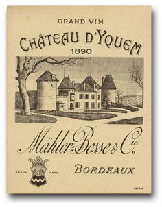Sauternes Chateau Yquem French Wine Regions, Rare Wine, Famous Wines, Wine Decor, Wine Art, In Vino Veritas, Italian Wine, Wine Labels, Vintage Labels