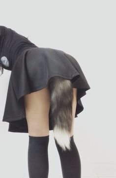 ☽•iNU~ dog girl - - puppy girl - - fluffy tail - - skirt - - thigh high stockings - - ecchi - - cute - - kawaii •☆