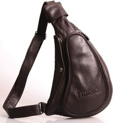 Free shipping 100 % Genuine Leather Sling Shoulder Bags Satchel Backpacks TIDING 3026-in Backpacks from Luggage & Bags on Aliexpress.com
