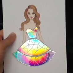 Rainbow dress Artist: @edgar_artis  Tag a friend