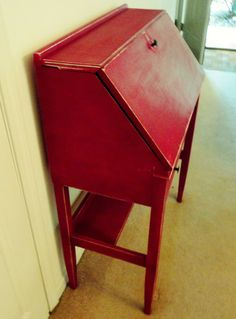 red secretary desk