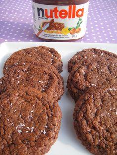 so good. Easy 5 Ingredient Nutella Cookies with Sea Salt (Gluten Free)