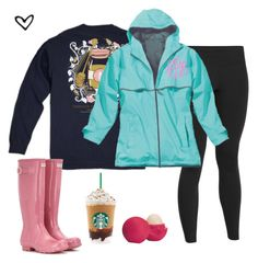"""Raining the crazy here!☔️"" by m-scanlon ❤ liked on Polyvore featuring Under Armour, Hunter and Eos"