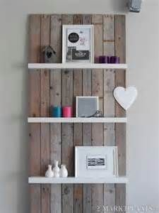 1000 images about ladder in huis on pinterest wooden ladders ladder and van - Grijze muur deco ...
