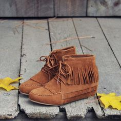 Nordic Frost Booties, Rugged Fringe Booties from Spool No.72 | Spool No.72