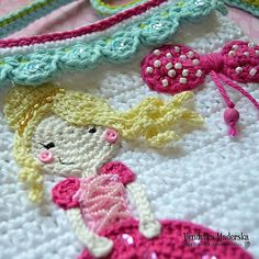 Crochet princess purse  crochet pattern DIY van VendulkaM op Etsy